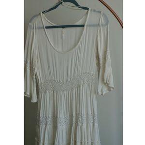 Free People Half-Sleeve Midi Dress